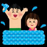 0歳から【ビニールプール】は入れる?遊び方と注意点!!